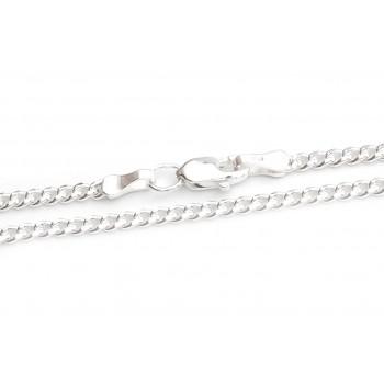 Cadena de plata groumet 60cm