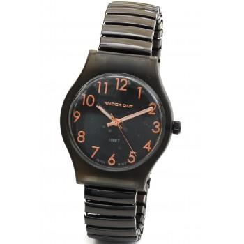 Reloj malla extensible negro fondo negro numeros 30mm
