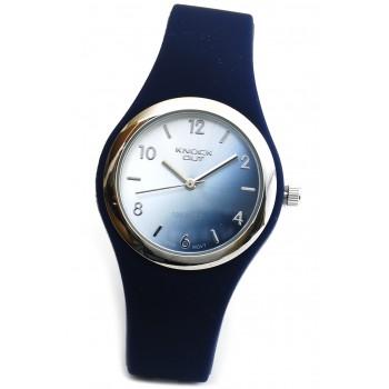 Reloj malla caucho azul rey centro azul plateado 30mm