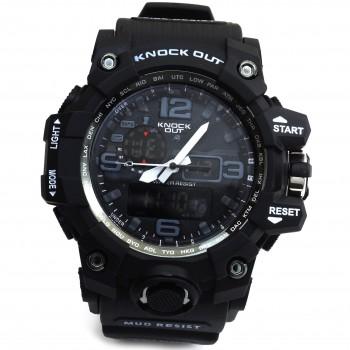 Reloj malla caucho negro digital 50mm