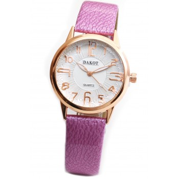 Reloj malla simil cuero rosa centro blanco 33mm
