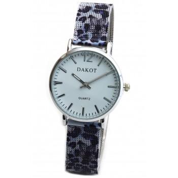 Reloj malla tejida flores violeta lila fondo blanco 30mm