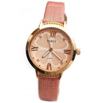 Reloj malla simil cuero rosa salmon centro rosse 33mm