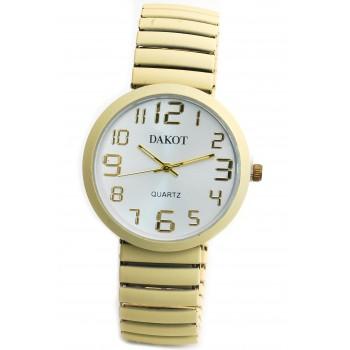 Reloj malla extensible blanco hueso fondo blanco 30mm