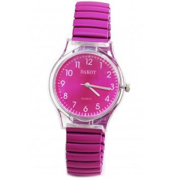 Reloj malla extensible color fucsia 16mm