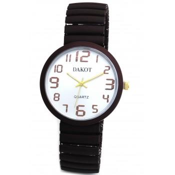 Reloj malla extensible bordo fondo blanco 30mm
