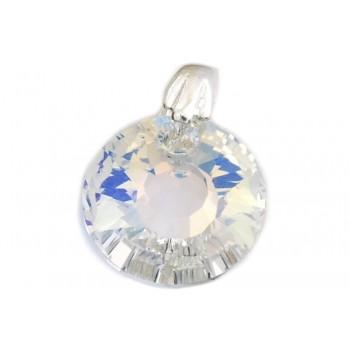 Dije de plata círculo cristal aurora boreal 12mm