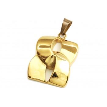 Dije de acero dorado nudo 34mm