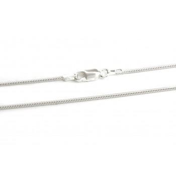 Cadena de plata clapton 1mm 45cm