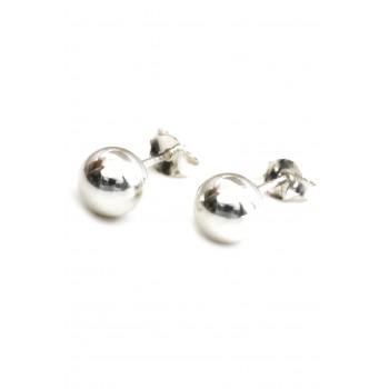 Aros de plata bolita 6mm