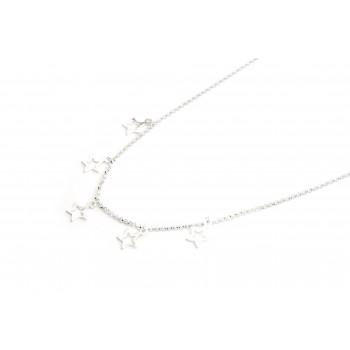 Colla de plata multi dije estrella calada 40cm