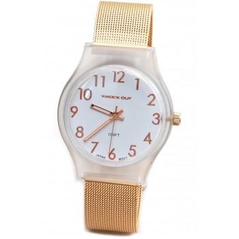 Reloj Knock out mujer KN1570 metal tejida 28mm