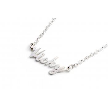 Collar de plata con nombre 45cm