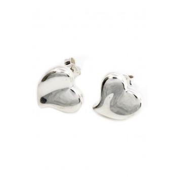 Aros de plata inflado corazón 15mm