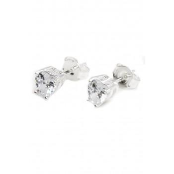 Aros de plata cubic forma de corazón 5mm