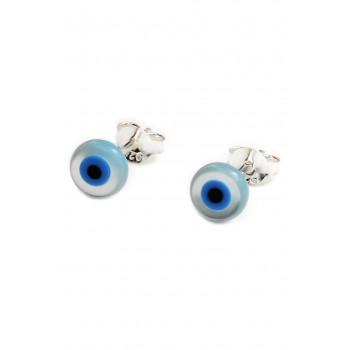 Aros de plata mini ojo turco 6mm
