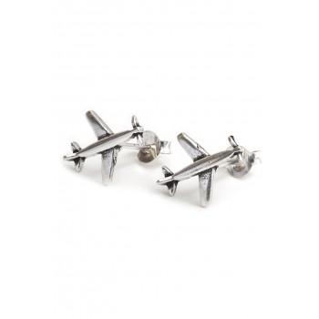Aros de plata aeroplano 13mm