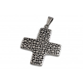 Dije de acero cruz del equilibrio labrada mini cruces 45mm