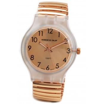 Reloj malla extensible dorado centro numeros 35mm