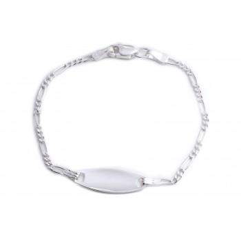 Pulsera de plata mini 3x1 identidad ovalo 13cm
