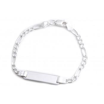 Pulsera de plata 3x1 identidad rectangulo 13cm