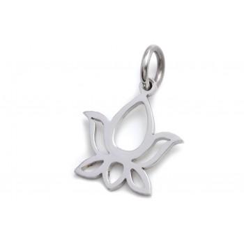 Dije de acero flor de loto 23mm
