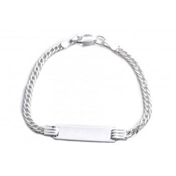 Pulsera de plata mini grumet identidad rectangulo 13cm