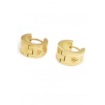 Aros de acero dorado argollas borde detalles 12mm