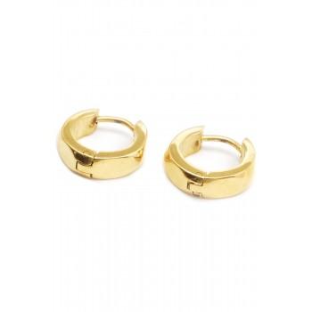 Aros de acero dorado argollas ovalos planos 12mm