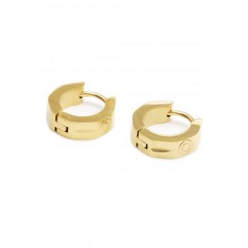 Aros de acero dorado argollas hexagono circulo labrado 12mm