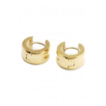 Aros de acero dorado argollas lisas 12mm
