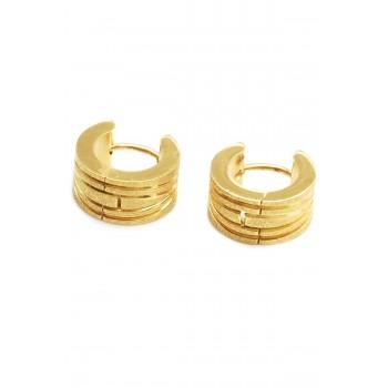 Aros de acero dorado argollas esmeriladas 12mm