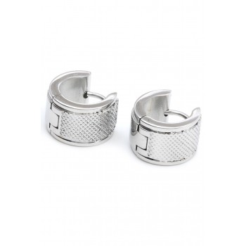 Aros de acero argolla micro rombos 12mm