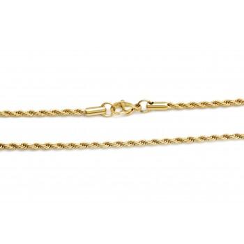 Cadena de acero dorado soga 2mm 50cm