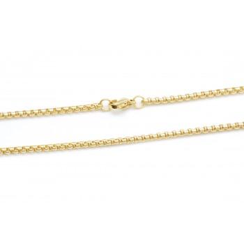 Cadena de acero dorado rolo cuadrada 2mm 50cm