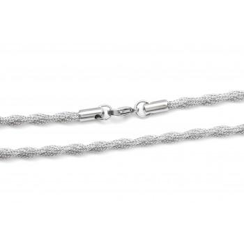 Cadena de acero canastita doble entrelazada 50cm