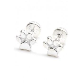Aros de plata abridores huella de perro 6mm