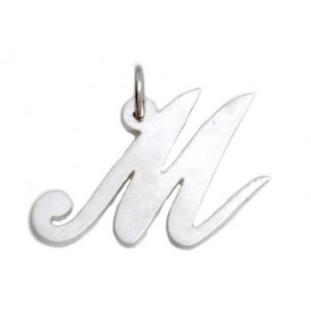 Dije de plata inicial letras varias 25mm