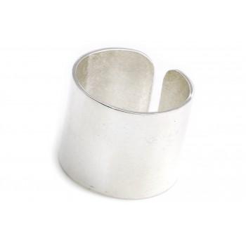 Anillo de plata tubo