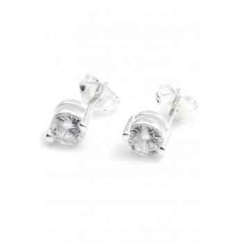 Aros de plata cubic engarzado 5mm