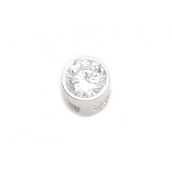 Dije de plata susano pasante 8mm
