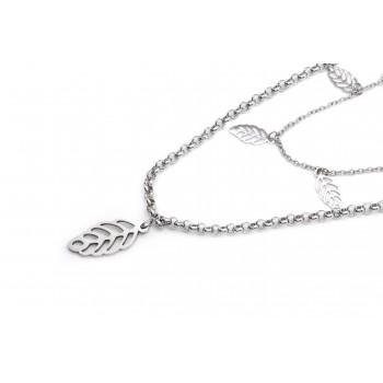 Collar de acero doble con hojas caladas 40/45cm