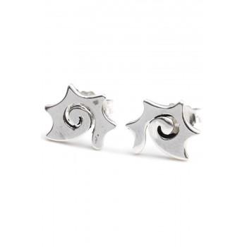 Aros de plata espiral con puntas 10mm
