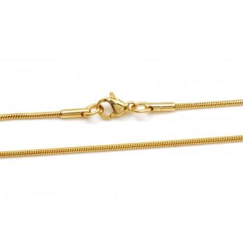 Cadena de acero dorado clapton 1mm 50cm