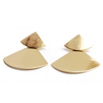 Aros de acero dorado colgante satinado 45mm