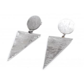 Aros de acero colgante boton y triangulo 65mm