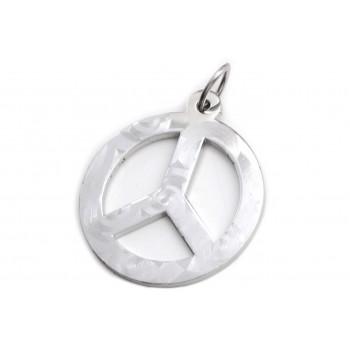 Dije de Acero símbolo de la paz calado labrado 24mm