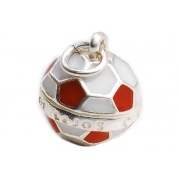 Dije de plata balón futbol de River 15mm