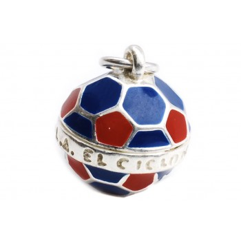 Dije de plata balón futbol de San Lorezo 15mm