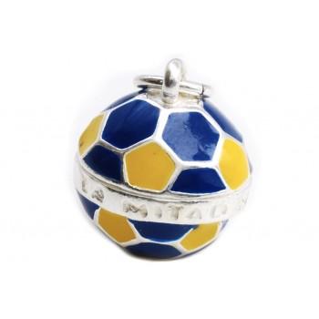 Dije de plata balón futbol de Boca 15mm